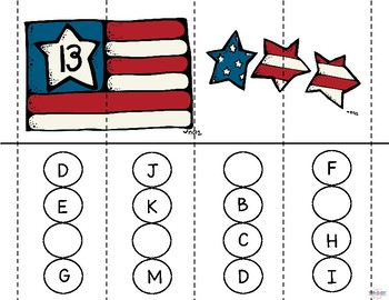 Word Building Puzzle Strip Activity