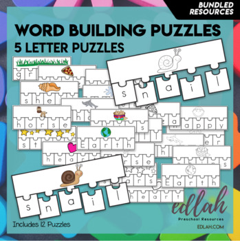 Word Building Puzzles: 5 Letter Words