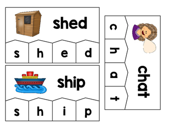 Word Building Puzzles: Beginning Digraphs Set