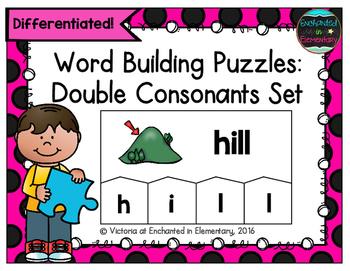 Word Building Puzzles: Double Consonants Set