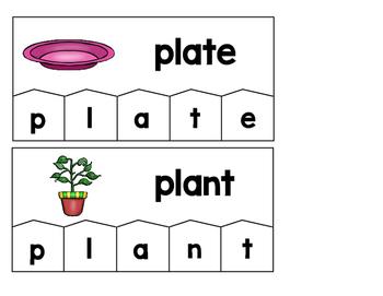 Word Building Puzzles: L-Blends Set
