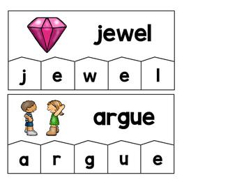 Word Building Puzzles: Long U Vowel Teams Set