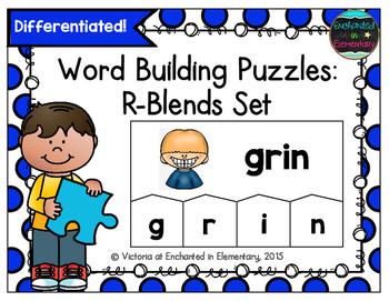 Word Building Puzzles: R-Blends Set