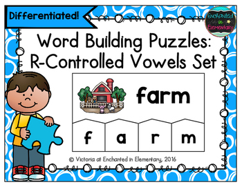 Word Building Puzzles: R-Controlled Vowels