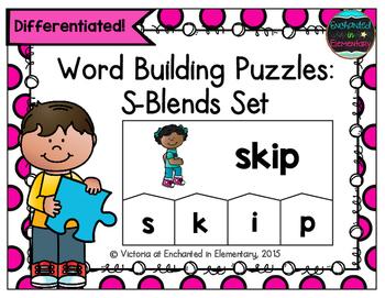 Word Building Puzzles: S-Blends Set
