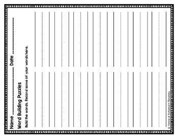 Word Building Puzzles: Short I CVC Set