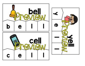 Word Building Puzzles: Short Vowel Word Families Bundle