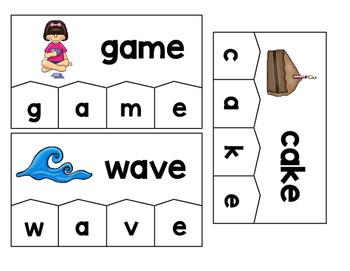 Word Building Puzzles: Silent e Set