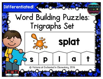 Word Building Puzzles: Trigraphs Set