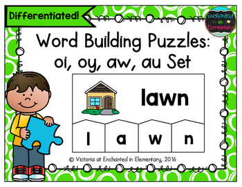 Word Building Puzzles: oi, oy, aw, au
