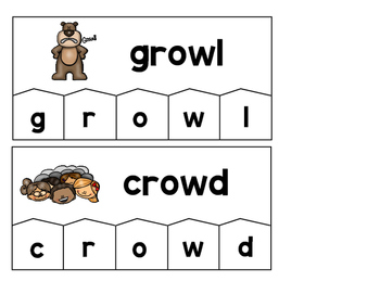 Word Building Puzzles: ow, ou, oo, ew