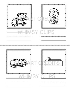 """Word Building Short Vowel """"u"""" Word Family : 3 Part Cards with Books to Color"""
