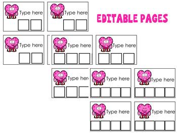 Word Building (Sight Words) Valentine Theme -Editable