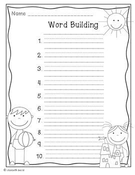 Word Building Templates: Seasonal Themed