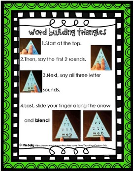 Word Building Triangles