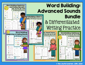 Word Building & Writing Practice: Advanced Sounds Bundle