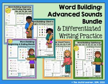 Word Building & Writing Practice: Advanced Sounds Bundle
