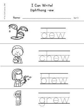 Word Building & Writing Practice: Diphthongs