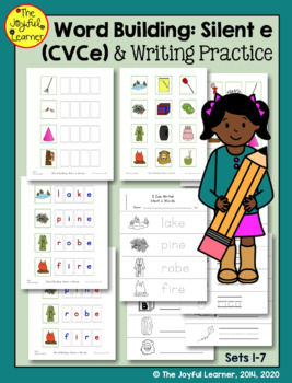 """Word Building & Writing Practice: Silent """"e"""" Words (CVCe)"""