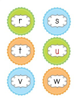 Word Building with Caterpillar Letters for Preschool, Kindergarten and 1st Grade