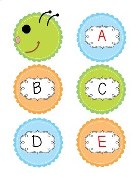 Word Building with Caterpillar Letters for Preschool, Kindergarten and 1st Grade