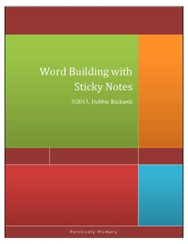 Word Building with Sticky Notes