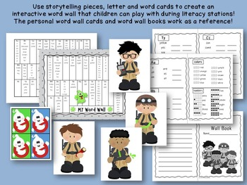 "Ghostbusters Inspired ""Word Busters"" Word Wall + Pack"