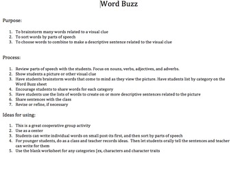 Word Buzz - Vocabulary Development