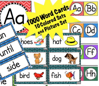 Word Cards Fry's 1000