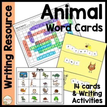 Word Cards:  Animals