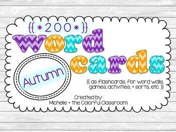 Word Cards {{Autumn - themed}}