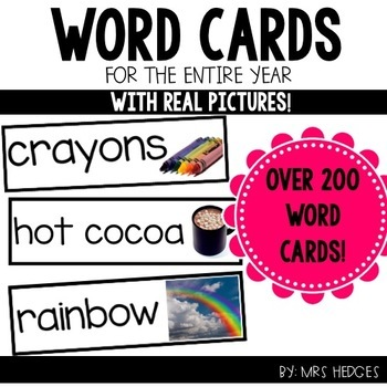 Word Cards Bundle: Real Pictures