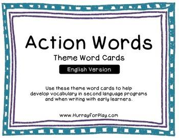 Word Cards - Verbs (English)