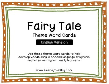 Word Cards - Fairy Tales (English)