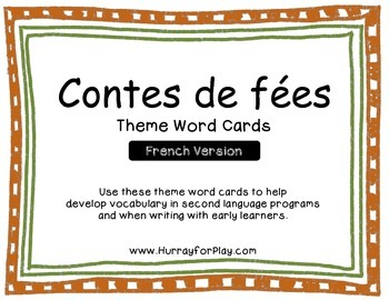 Word Cards - Fairy Tales (French)