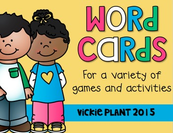Word Cards {For a Variety of Games and Activities}