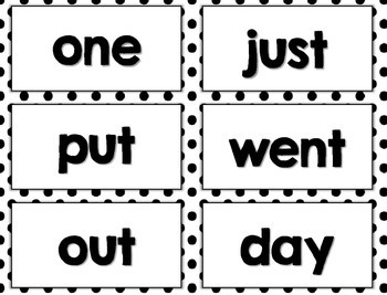 Word Cards - Fry, Dolch, Sight Words, Journeys, Wonders, Kindergarten, First