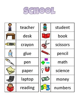 Word Cards-Great for Writing Station