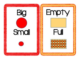 Word Cards: Opposites