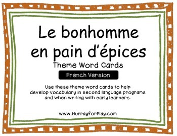 Word Cards - The Gingerbread Man (French)