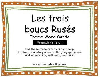 Word Cards - The Three Billy Goats Gruff (French)