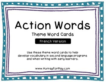Word Cards - Verbs (French)