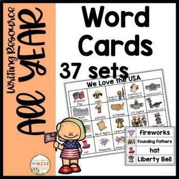 Word Cards: Year BUNDLE
