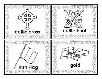 Word Cards for St. Patrick's Day Word Wall, Concentration Game, and Puzzles