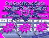 Word Cards for Unit 2 Wonders Reading Series 2nd Grade