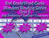 Word Cards for Unit 5 Wonders Reading Series 2nd Grade