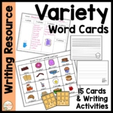Word Cards:  Variety