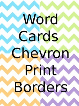 Word Cards with Chevron Print Borders