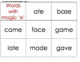 Word Cards with a Magic E