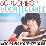 Word Categories Activities ESL - September - Talk like a P